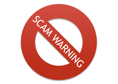 Scam warning sign